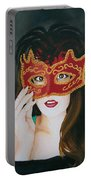 Beauty And The Mask Portable Battery Charger