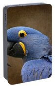 Beauty Is An Enchanted Soul - Hyacinth Macaw - Anodorhynchus Hyacinthinus Portable Battery Charger