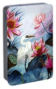Beauty Of The Lake Hand Embroidery Portable Battery Charger
