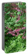 Bed Of Bleeding Hearts Portable Battery Charger