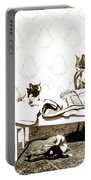 Bed Time For Kitty Cats Histrica Photo Circa 1900 Portable Battery Charger