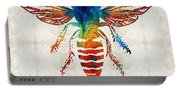Bee Colorful - Art By Sharon Cummings Portable Battery Charger