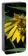Bee In A Wild Flower Portable Battery Charger