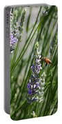 Bee In Lavender Portable Battery Charger