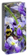 Bee In The Wisteria Portable Battery Charger