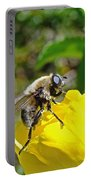 Bee Mimic On Primrose Portable Battery Charger