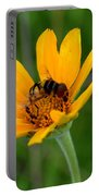 Bee On A Smooth Oxeye Portable Battery Charger