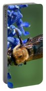 Bee On Blue Portable Battery Charger