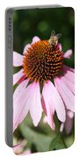 Bee On Coneflower Portable Battery Charger