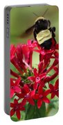 Bee On Flower Cluster Portable Battery Charger