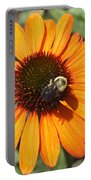 Bee On Flower Portable Battery Charger