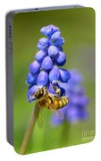 Bee On Grape Hyacinth Portable Battery Charger