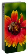 Bee On Orange Flower Portable Battery Charger