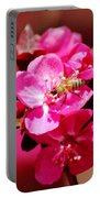 Bee On Pink Blossoms 031015ab Portable Battery Charger