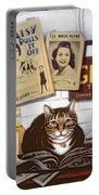 Beerbohm, The Theatre Cat Oil & Tempera On Panel Portable Battery Charger