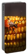 Beetle On Corn Ear Portable Battery Charger