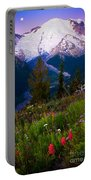 Before Dawn At Mount Rainier Portable Battery Charger