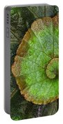 Begonia Leaf Portable Battery Charger