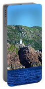 Behind Fort Amherst Rock By Barbara Griffin Portable Battery Charger