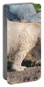 Beige Colored Polar Bear Portable Battery Charger