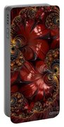 Bejewelled Crimson Portable Battery Charger
