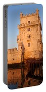Belem Tower At Sunrise In Lisbon Portable Battery Charger