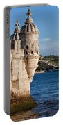 Belem Tower Fortification On The Tagus River Portable Battery Charger