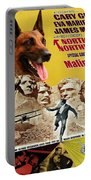 Belgian Malinois Art Canvas Print - North By Northwest Movie Poster Portable Battery Charger