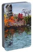 Bell Tower At The Botanic Gardens In Autumn Portable Battery Charger