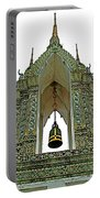 Bell Tower In Wat Po In Bangkok-thailand Portable Battery Charger