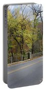 Bells Mill Road In Autumn Portable Battery Charger