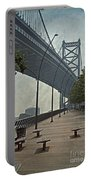 Ben Franklin Bridge And Pier Portable Battery Charger