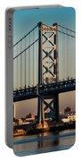 Ben Franklin Bridge Over Delaware River Portable Battery Charger