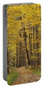 Bench In Fall Color Portable Battery Charger