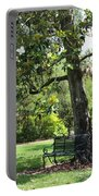 Bench Under The Magnolia Tree Portable Battery Charger