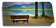 Bench View At Lake Edith Portable Battery Charger