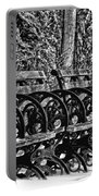 Benches In The Snow - Bw Portable Battery Charger
