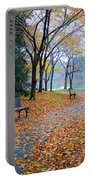 Benches Of Fall Portable Battery Charger