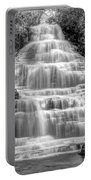 Benton Falls In Black And White Portable Battery Charger