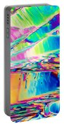 Benzoic Acid Crystals In Polarized Light Portable Battery Charger