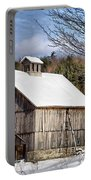 Berkshire Barn In Winter Portable Battery Charger