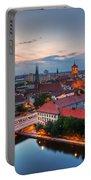 Berlin Germany Major Landmarks At Sunset Portable Battery Charger