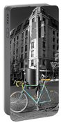Berlin Street View With Bianchi Bike Portable Battery Charger by Ben and Raisa Gertsberg