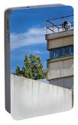 Berlin Wall Memorial A Watchtower In The Inner Area Portable Battery Charger