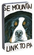 Bernese Mountain Dog Paradise Portable Battery Charger