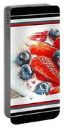 Berries And Yogurt Illustration - Food - Kitchen Portable Battery Charger