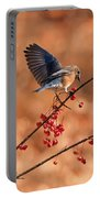 Berry Picking Bluebird Portable Battery Charger