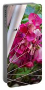 Bespoke Flower Arrangement Portable Battery Charger by Rona Black