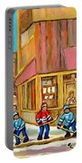 Best Sellers Original Montreal Paintings For Sale Hockey At Beauty's By Carole Spandau Portable Battery Charger