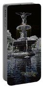 Bethesda Fountain Abstract Portable Battery Charger